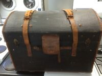 Old luggage trunk dome top great example £195