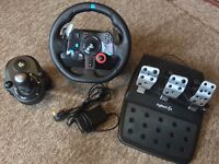 Logitech G29 Steering wheel, Gear change and pedals
