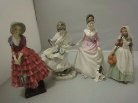 four beautiful ladies collection x 4pcs by royal doulton & coalport SPECIAL PRICE