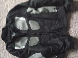 BMW AirFlow-2 (black) motorcycle jacket. Never worn. Size 44. Could be for man or woman.