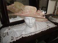 Hat / Cream Hat Made by Susy Krakowski