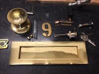 Brass front door letter box lock