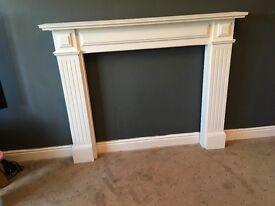 White wooden mantle piece/ fire surround