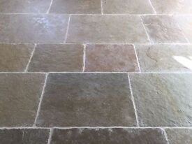 Old Farmhouse Green Limestone Tiles / Flagstones (6.8 m2)