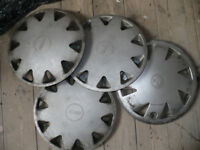 7x Wheel Trims/ Covers: 3x Fiat, 1x Vauxhall and 3 other; all 14inch/ 14''. Good condition!