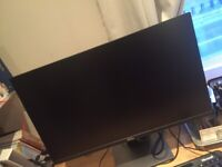 New broken Dell Monitor (23 inch) with stand, cable for sale for parts