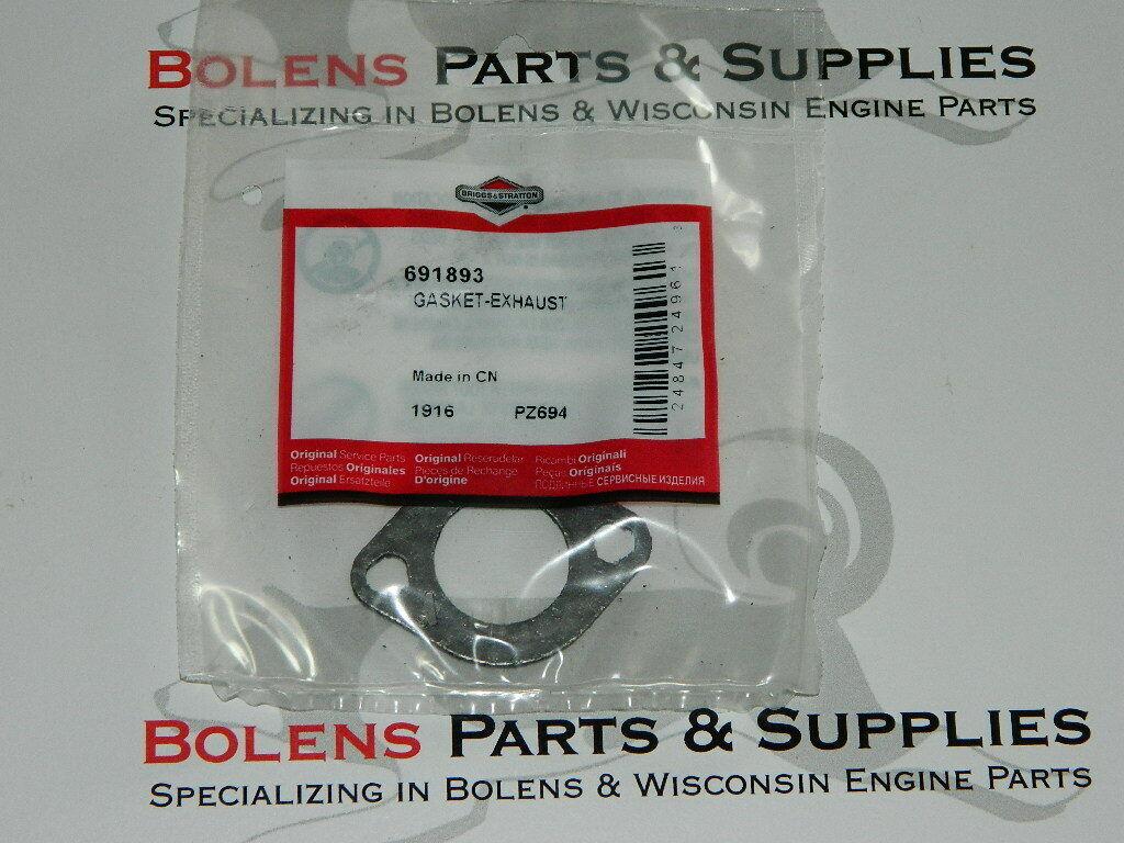 GENUINE Briggs and Stratton Exhaust Gasket  691893 / Tiller,