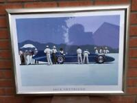 Beautiful large silver framed Vettriano print - Bluebird at Bonneville