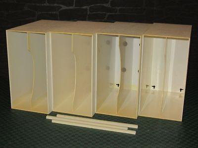 4 x LP-Box, Regal, Ständer, Plattenständer für ca. 200 LP's - in Weiss