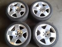 "GENUINE AUDI TT 17"" COMPETITION ALLOYS & 225/45/17 TYRES. 5X100PCD VW SEAT SKODA"