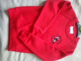 Rickleton Primary School red sweatshirt -5/6yrs ( new )