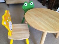 Pintoy Children's Wooden Table and 2 Chairs