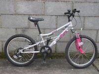 silver girl bike apollo pure 20''hardly used