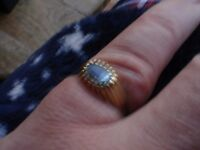 9ct Gold Topaz Ring--hallmarked