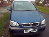 2003 Vauxhall Zafira 1.6 club MPV 7 seater spares or repair