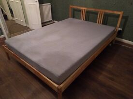 Double bed frame and mattress IKEA