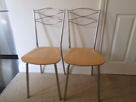 Pair of Modern Style Kitchen Chairs