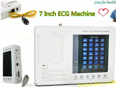 Medical Electrocardiograph Digital 3 Channel Ecgekg Portable Machine Usa