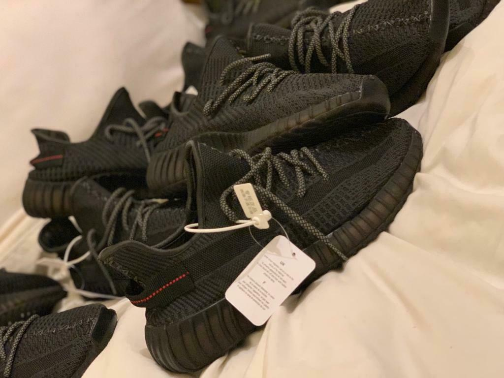 best website 215c2 c4d46 YEEZY BOOST 350 V2 STATIC SIZE 8 9 10 MOONROCK PIRATE TRIPLE BLACK BRED |  in Blackburn, Lancashire | Gumtree