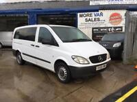 2009 Mercedes Vito long 9 seat minibus 2.1cdi 280k ideal taxi or big family bus or surf bus /camper