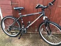 Mountain bike 21 speed with lights and lock supplied