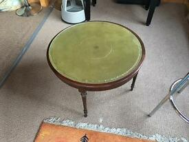 Vintage round coffee table