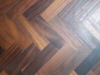 Reclaimed African Walnut Parquet Flooring - 5m2