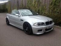 2002 02 BMW M3 3.2 CONVERTIBLE 6 SPEED MANUAL IN SILVER