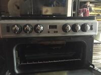 Gas cooker with double oven