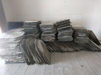 Full roof of slate tiles
