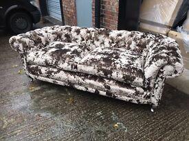 velvet chesterfield 3 seater sofa £899
