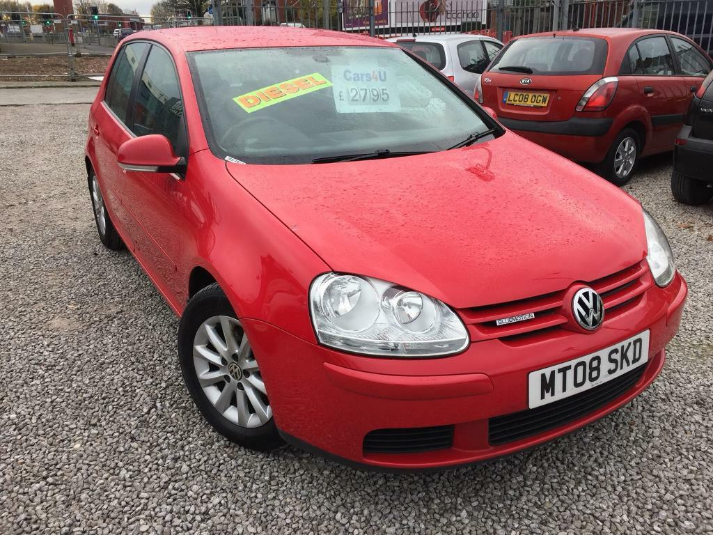 08 VOLKSWAGEN GOLF 1.9 TDI BLUEMOTION MATCH IN RED *PX WELCOME* MOT TILL JULY 2018 £2795