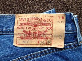 Levis 501 jeans...34waist34Leg new-£29