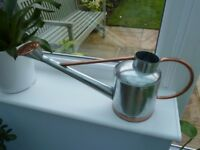 rose gold silver colour watering can