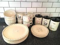 Farm animals plates, bowls, mugs & tea coffee sugar set