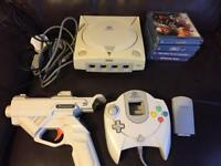 Sega dreamcast console and games
