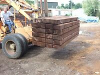 Railway sleepers ,new and used. Various types and sizes available