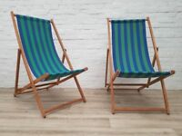 Pair Of Vintage Deck Chairs (DELIVERY AVAILABLE)