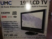 "19"" Freeview LCD TV for sale"