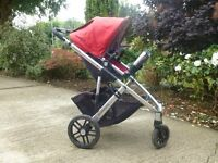 Uppababy Vista (red) travel system with buggyboard £250