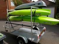 Kayak, bike trailer