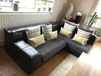 Remodelled Leather Ikea Corner Sofa. FREE. COLLECTION ONLY.