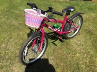 Child's Bike Hardly Used From New