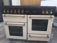 RANGEMASTER 110 DUAL FUEL COOKER WITH HOOD