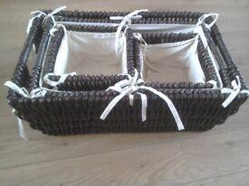 Set of Four Storage Baskets