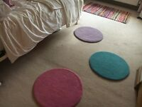 CIRCLE / POLKA DOT FUNKY COLOURED RUGS