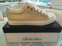 Gold and silver sparkle pumps new in box size 4-7