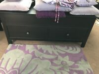 Ikea Hemnes Bedroom Furniture including Super King bed frame, cabinrets, blanket box and drawers