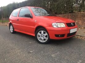 **2001 VW POLO 1.4 TDI RED** GREAT CONDITION+LOTS OF RECIEPTS+VERY ECONOMIC
