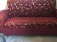 2 RED SETTEES